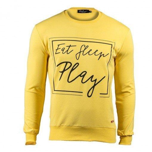 Eat Sleep Play Sweatshirt Yellow ARQF8443