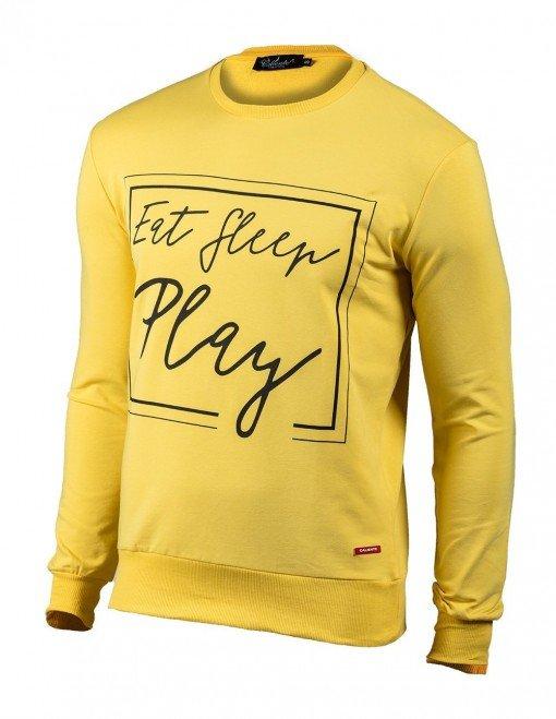 Eat Sleep Play Sweatshirt Yellow ARQF8444 copy