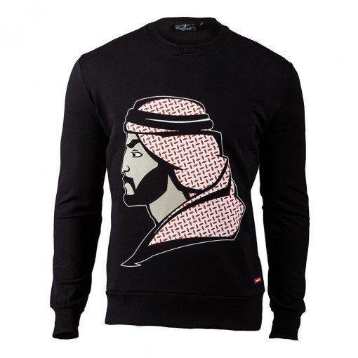 Arab Man Sweatshirt Black ARQF8456