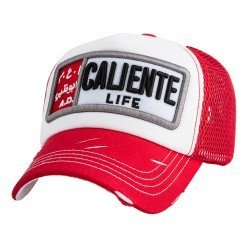 Caliente Life A.D. Red/White/Red - Caliente Caps